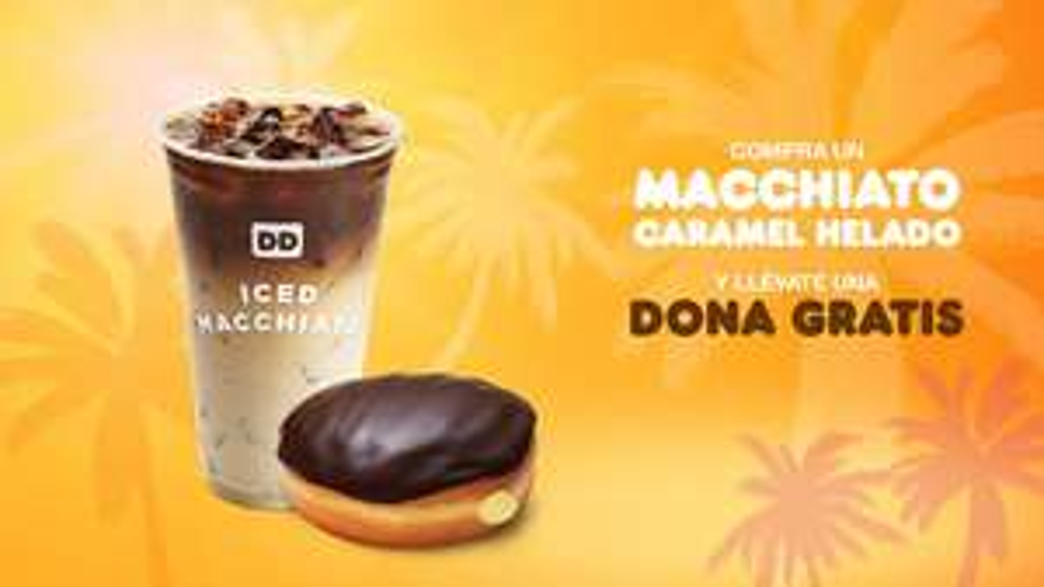 Dunkin Donuts: dona gratis comprando macchiato caramel frío (julio)