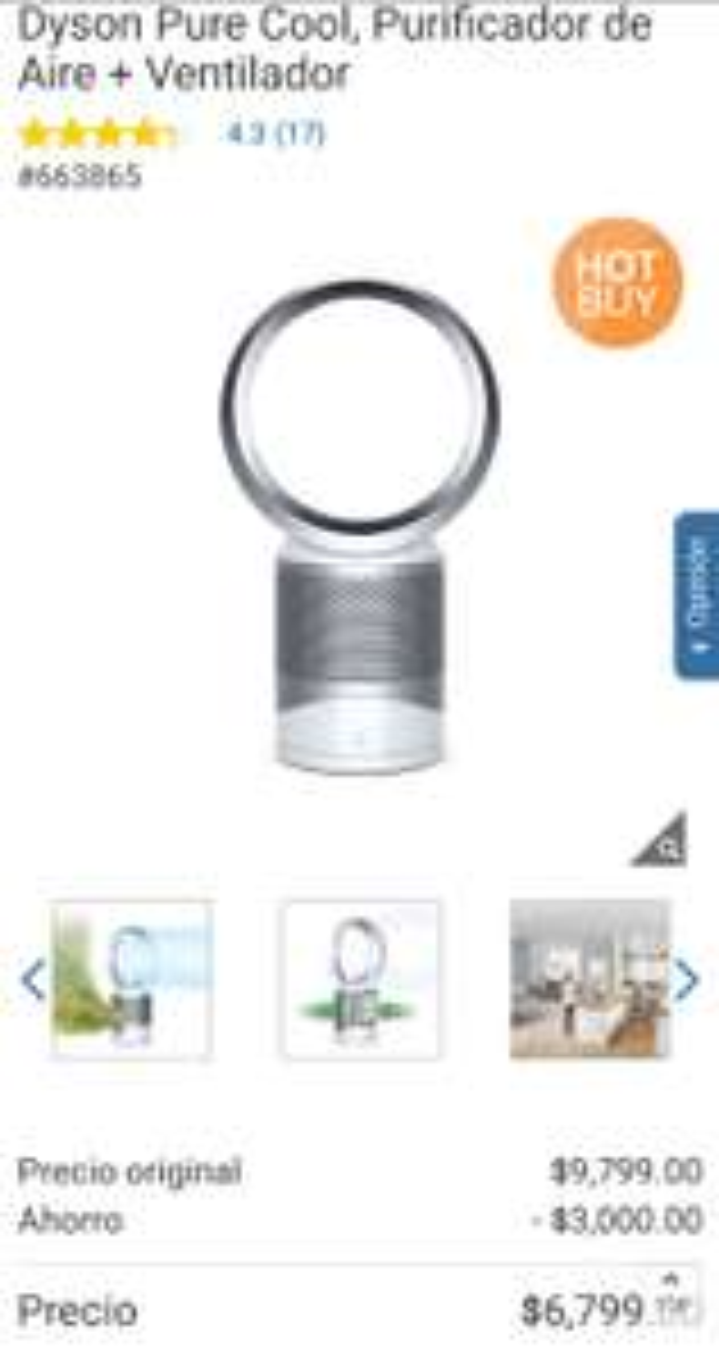 Costco: Dyson Pure Cool, Purificador de Aire + Ventilador Pagando con TCD Citibanamex Costco