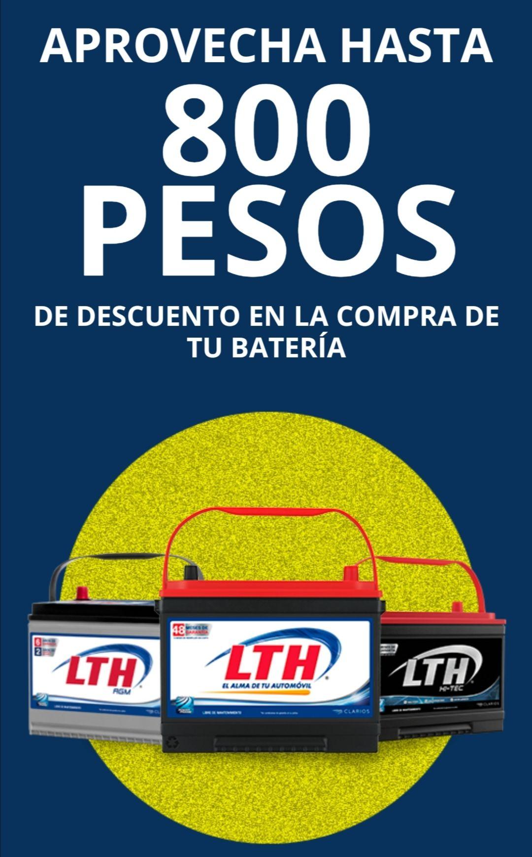 LTH: Descuento de hasta $800 baterías LTH