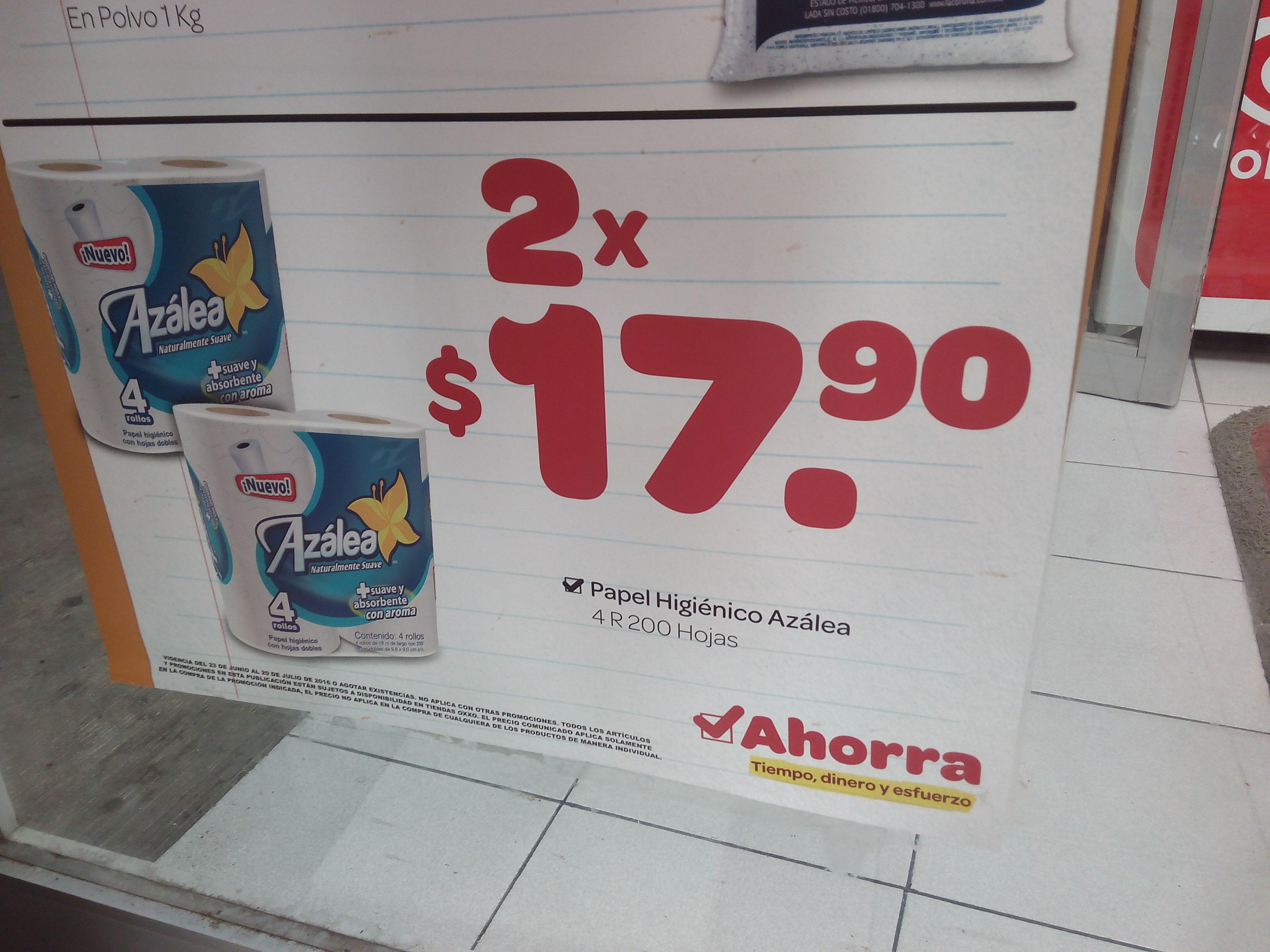 Oxxo: 8 Rollos pequeños Azalea por 18 pesos
