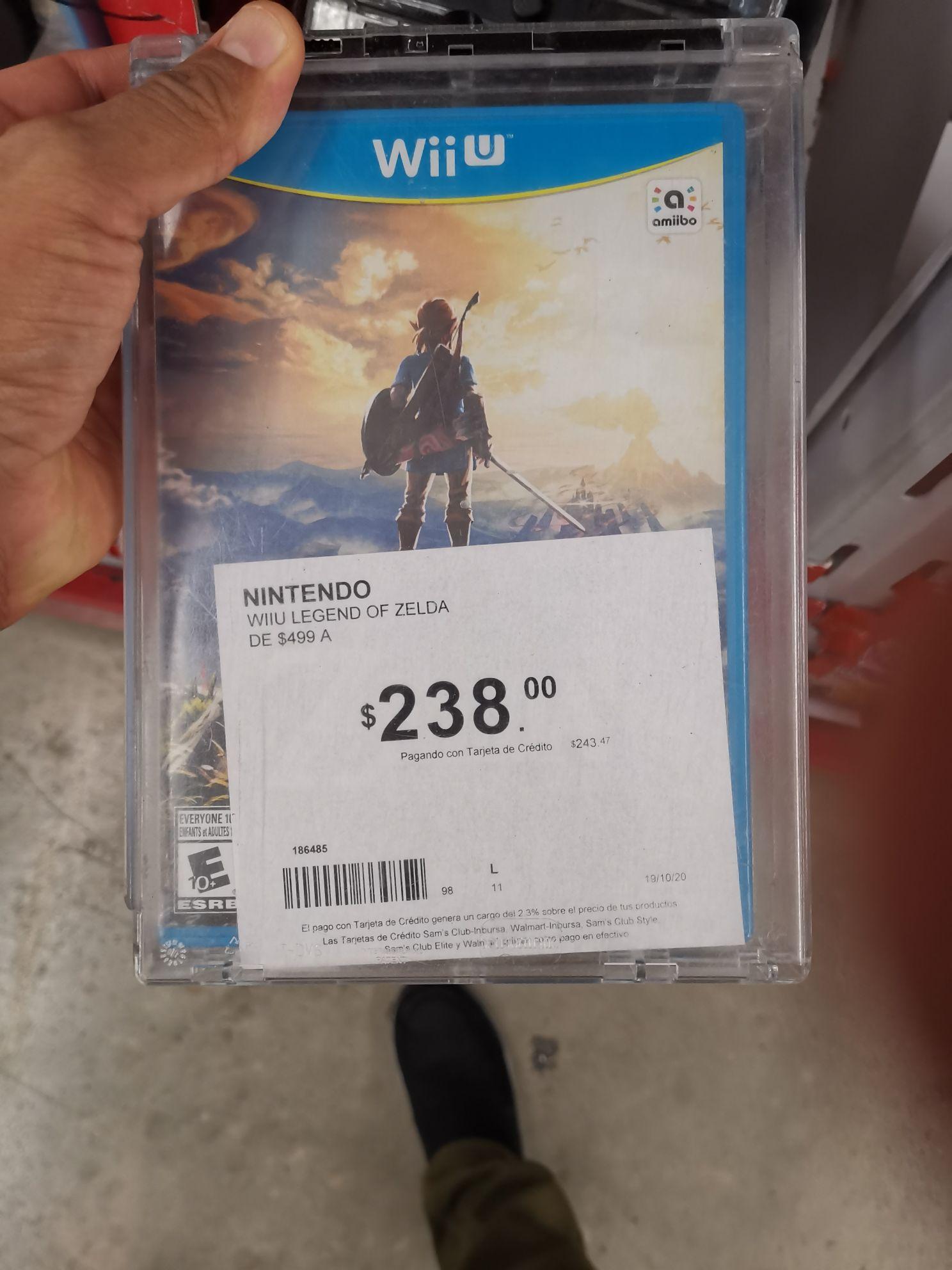 Zelda breath of the wild Wiiu en Sam's Club Cancún