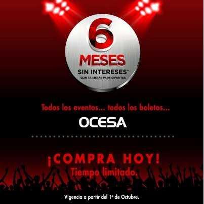 Ticketmaster: todos los eventos de OCESA a 6 meses sin intereses