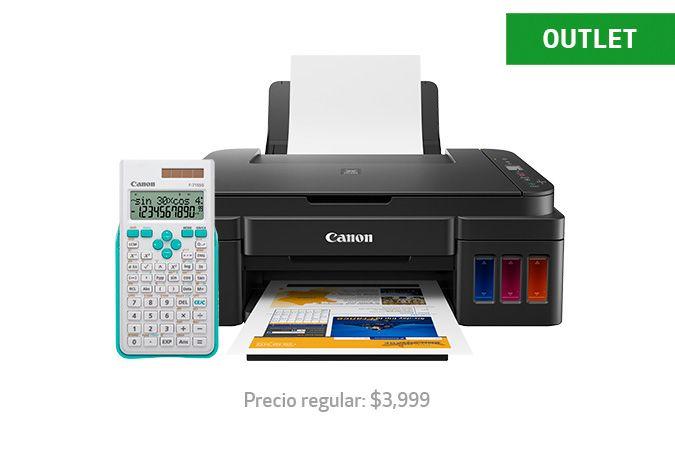 Canon: Multifuncional Canon G2110 tinta continua + calculadora