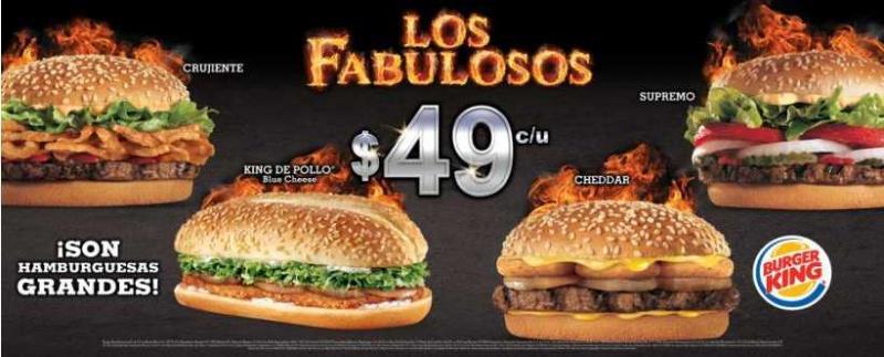 Burger King: regresan los fabulosos combos a $49