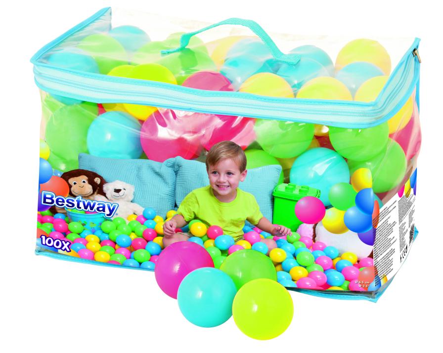 HEB en línea: paquete de 100 pelotas para niños, excelentes sin bordes y material no tóxico