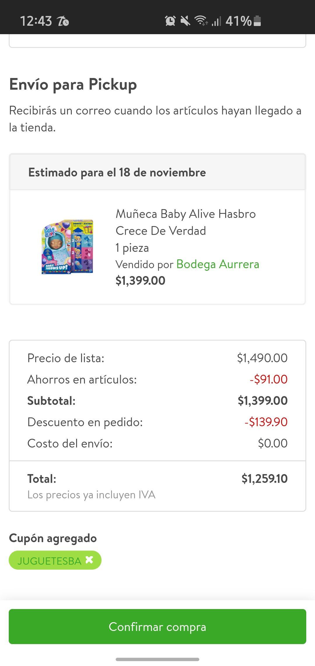 Bodega Aurrera: Muñeca Baby Alive Crece de verdad