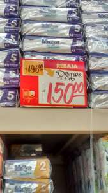 Walmart Domingo Diez: 60 pañales Bbtips etapa 5 a $150