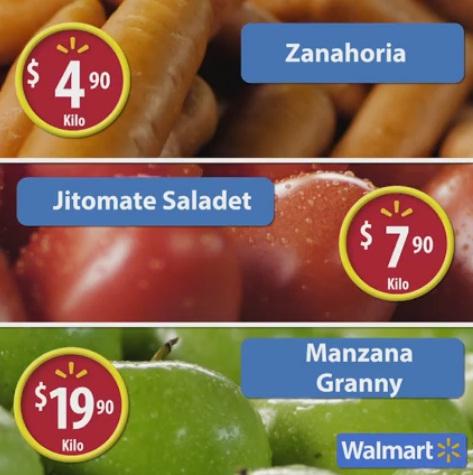 Walmart: Martes de Frescura Julio 12: Zanahoria $4.90, Jitomate $7.90, Manzana Granny $19.90 y Carnes