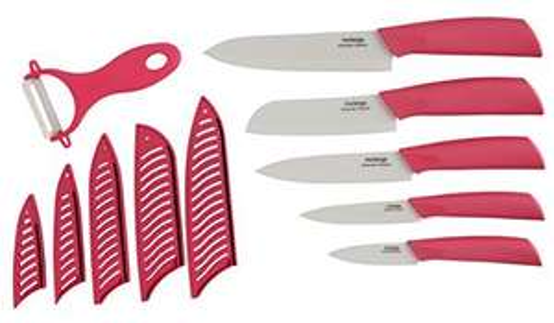 Amazon: cuchillos y pelador de cerámica 11 piezas a $288.04