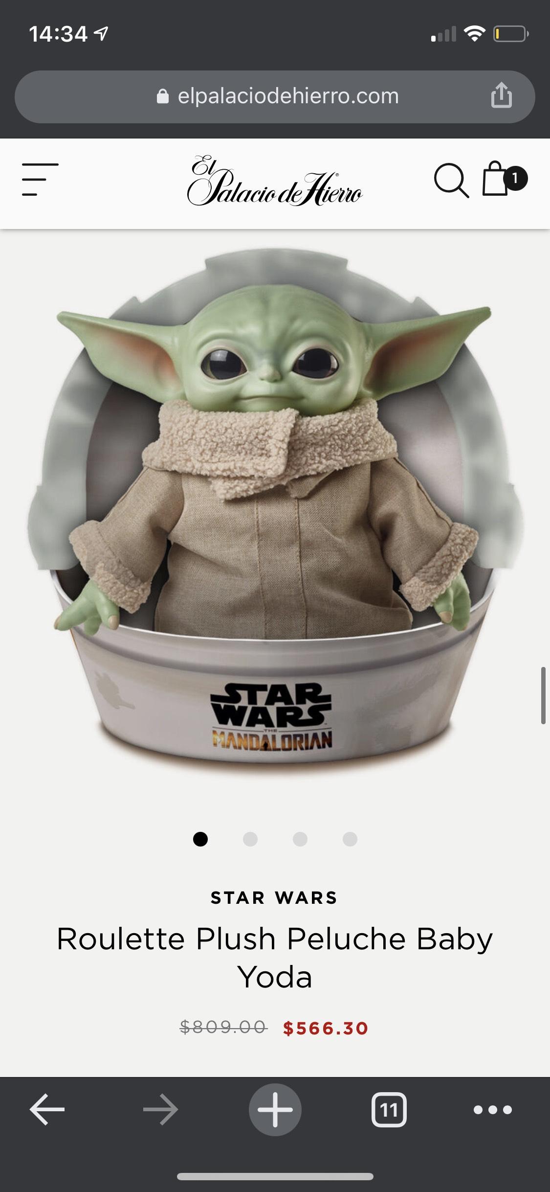 Palacio de Hierro: Baby Yoda The Mandalorian