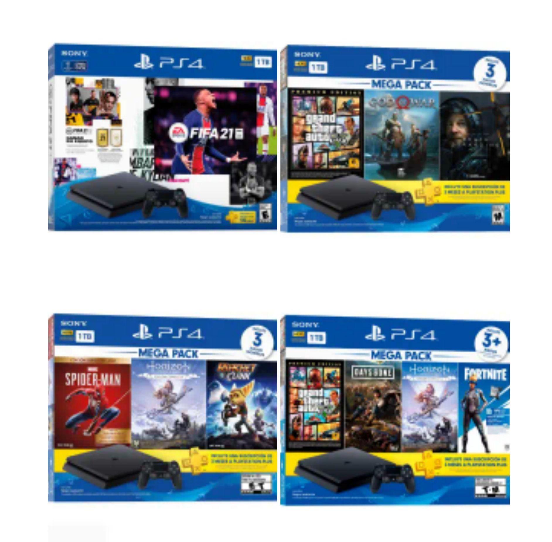 Sam's Club: Consola PlayStation 4 MegaPack 15 + Marvel Spider-man + Ratchet & Clank + Horizon Zero Dawn y más(con HSBC)