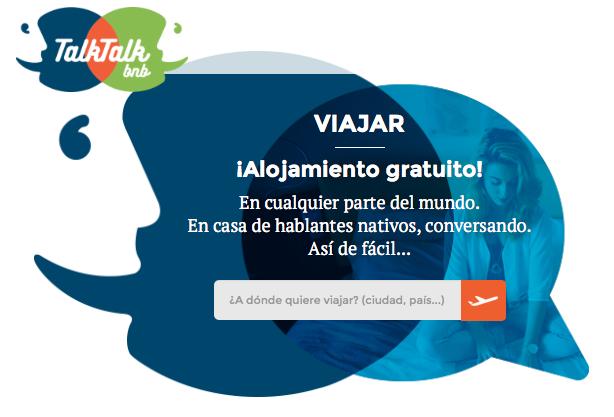 TalkTalkbnb: Alojamiento gratis en todo el mundo a cambio de idiomas