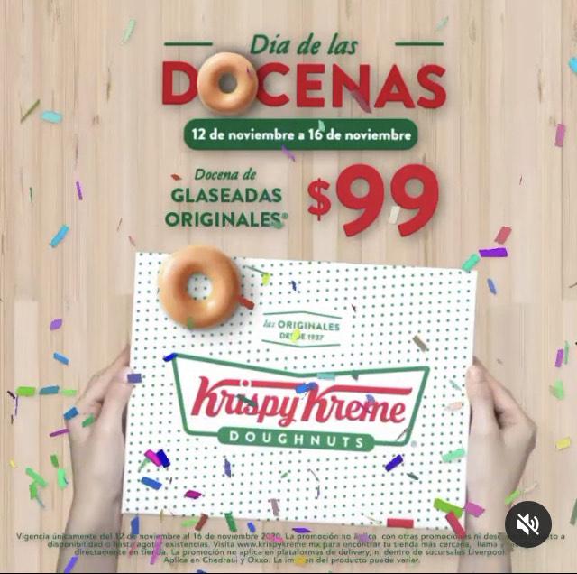 Krispy Kreme: docena $99 del 12 al 16 de noviembre