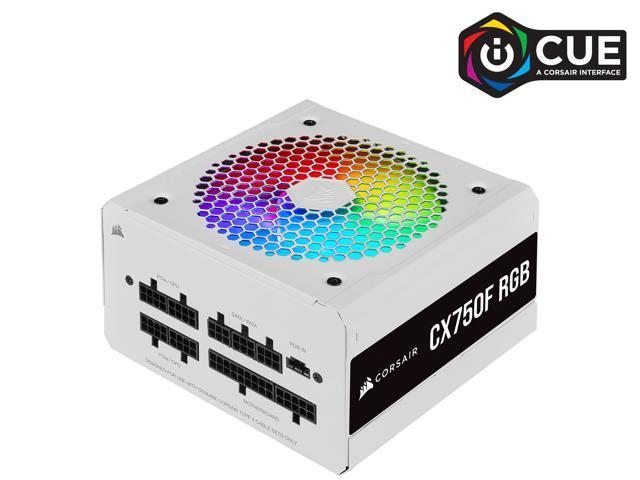 Newegg: CORSAIR CX-F RGB Series CX750F RGB White 750W 80 PLUS Bronze Fully Modular ATX Power Supply, CP-9020227-NA