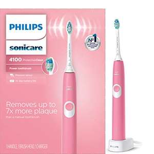 Amazon: Philips Sonicare ProtectiveClean 4100 Rechargeable Electric Toothbrush , Deep Pink HX6815/01