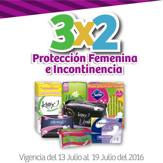 Julio Regalado en Soriana y Comercial Mexicana: 3x2 en protección femenina e incontinencia