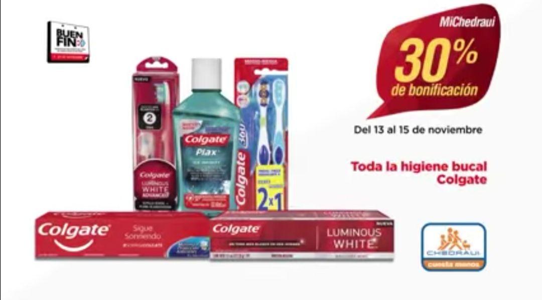 Chedraui: 30% de descuento / bonificación en toda la higiene bucal Colgate