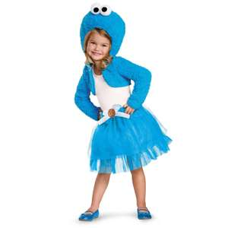 Amazon: Disfraz del Monstruo Come Galletas (Cookie Monster) para niña
