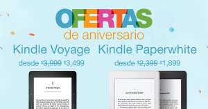 Amazon México: Kindle Paperwhite a $1,899 ($1,614 con AMEX) y Kindle Voyage a $3,499 ($2,974 con AMEX)