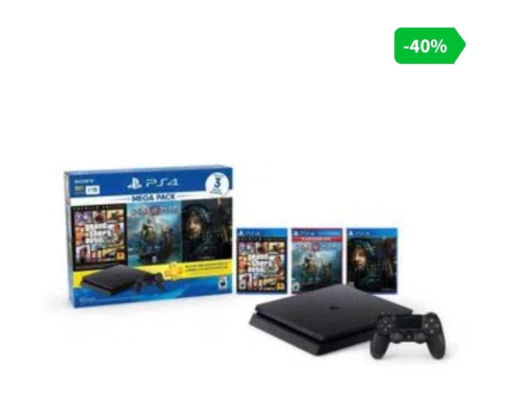 Elektra: Consola PS4 1TB Mega Pack 3 (con citi banamex)