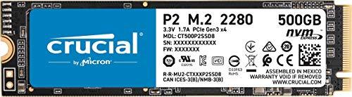 Amazon: crucial 500Gb nvme (con Amazon recargable)
