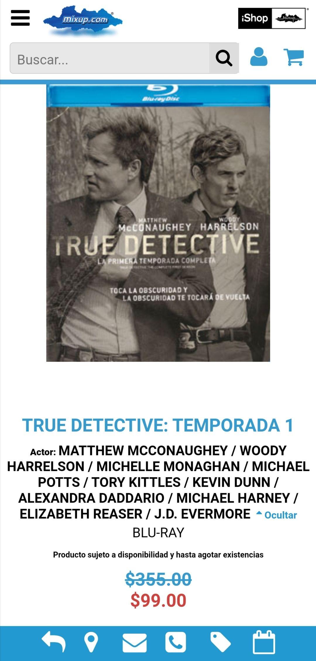 Mixup: True detective Blu-ray temporada 1