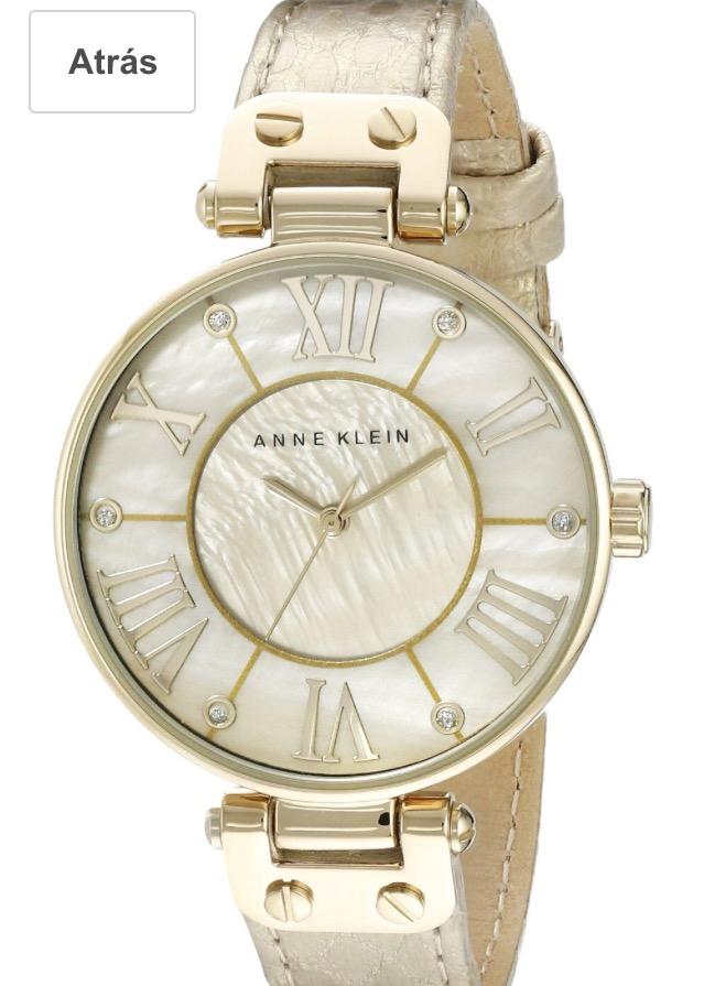 Amazon Mx: reloj Anne Klein de dama cuero, color dorado con grabado de serpiente