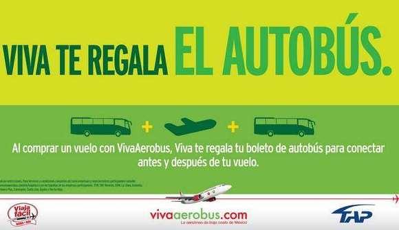 Vivaerobus: autobús para conectar a otras ciudades gratis al volar con ellos