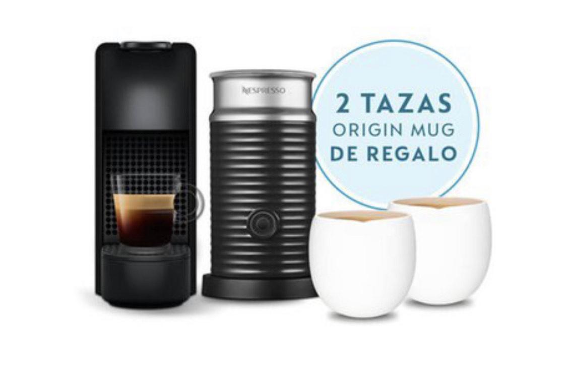 Linio: Cafetera Nespresso Essenza Mini Espumador Leche Color Negro con débito Scotia