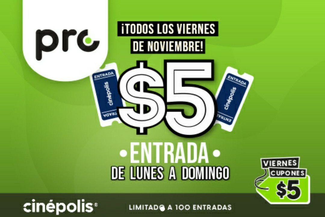 Cuponerapp PRO: Boletos de Cinépolis a $5 pesos todos los viernes de noviembre