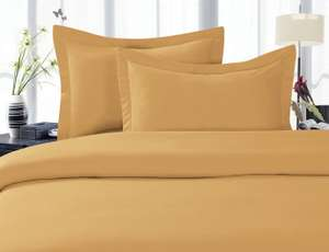 Amazon: Edredon Calidad Egipcia King Size color oro