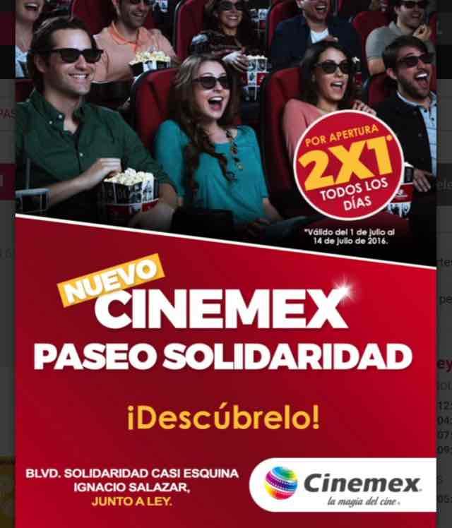 Cinemex Hermosillo Paseo Solidaridad: 2x1 por inauguración
