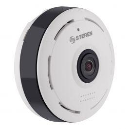 Steren: Cámara de seguridad Wi-Fi HD fija con visión 360
