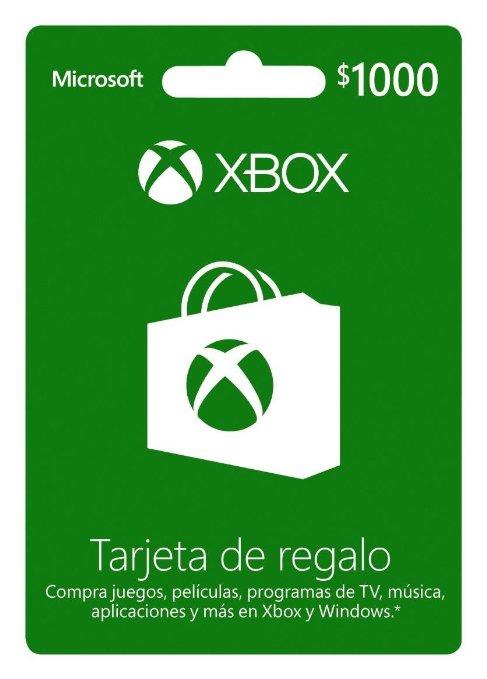 Amazon MX: Tarjeta Xbox Live con crédito de $1000 a $800... (Cambio a $850 de vuelta)