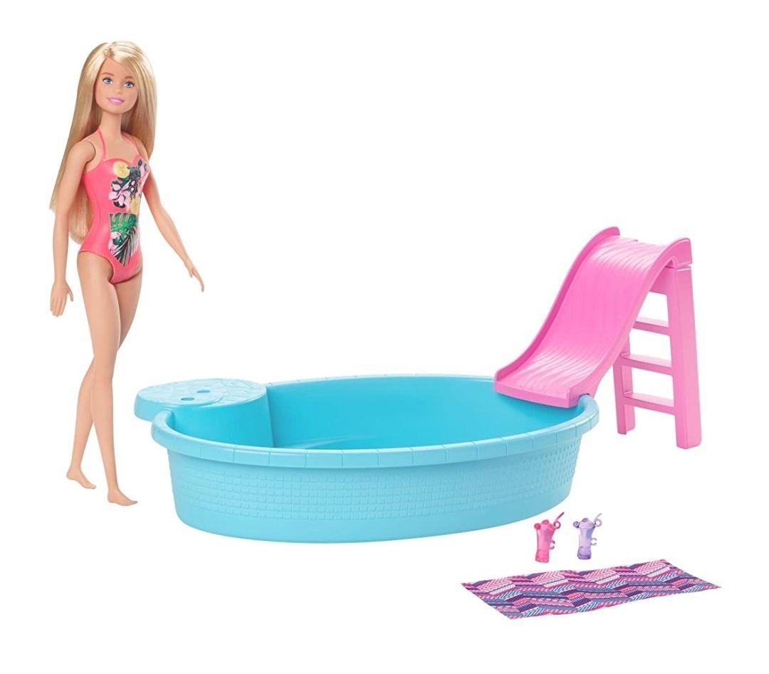 Amazon. Barbie Estate Alberca y Muñeca para niñas de 3 años en adelante