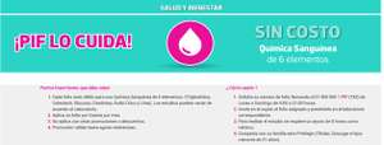 Liverpool (Tarjeta PIF) Química Sanguínea de 6 Elementos sin costo