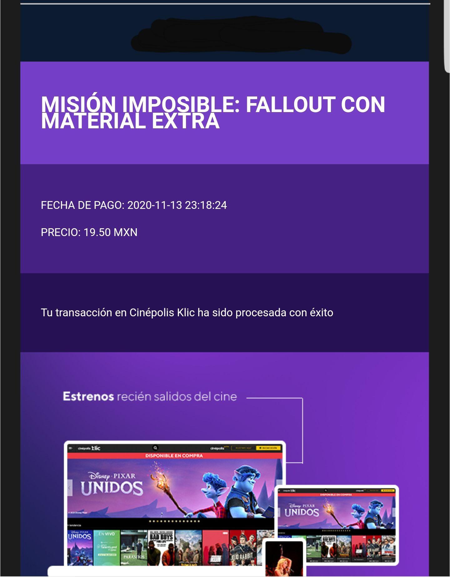 Cinépolis klic: misión imposible Fallout