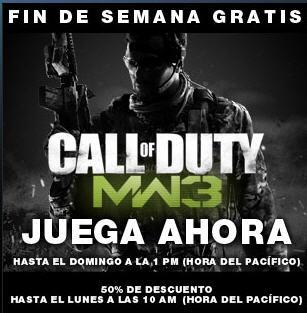 Juega gratis Call of Duty Modern Warfare 3 o compra a mitad de precio (PC)