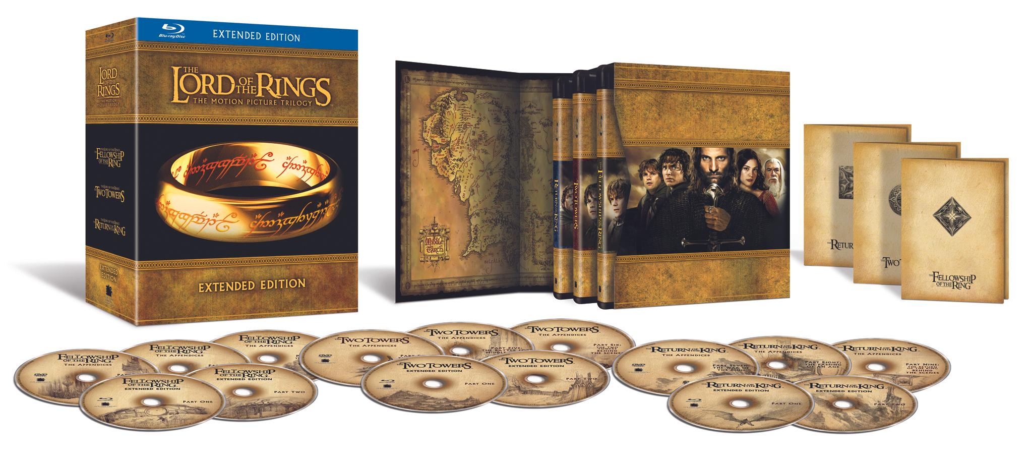 Amazon USA: Trilogía El Señor de los Anillos Edición Extendida en Blu-Ray
