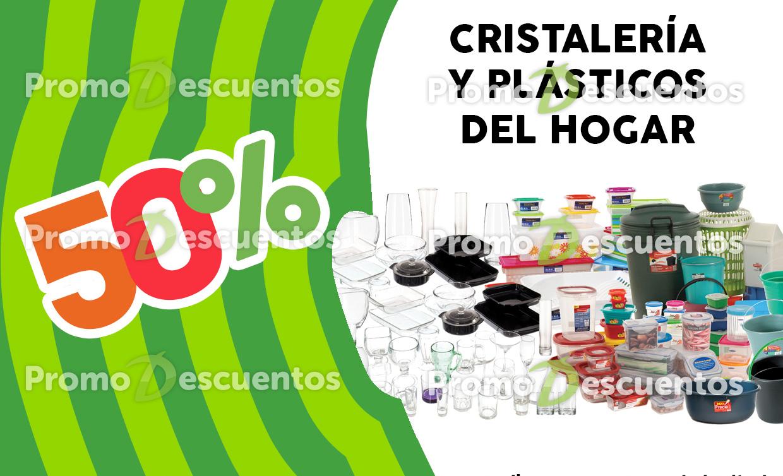 Promoción de Julio Regalado en Soriana y Comercial Mexicana: 3x2 en cremas y 50% en cristalería y plásticos