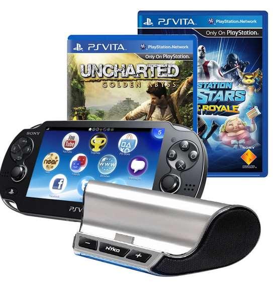 Walmart: PS Vita con 2 juegos, tarjeta de memoria y base con bocinas $3,591