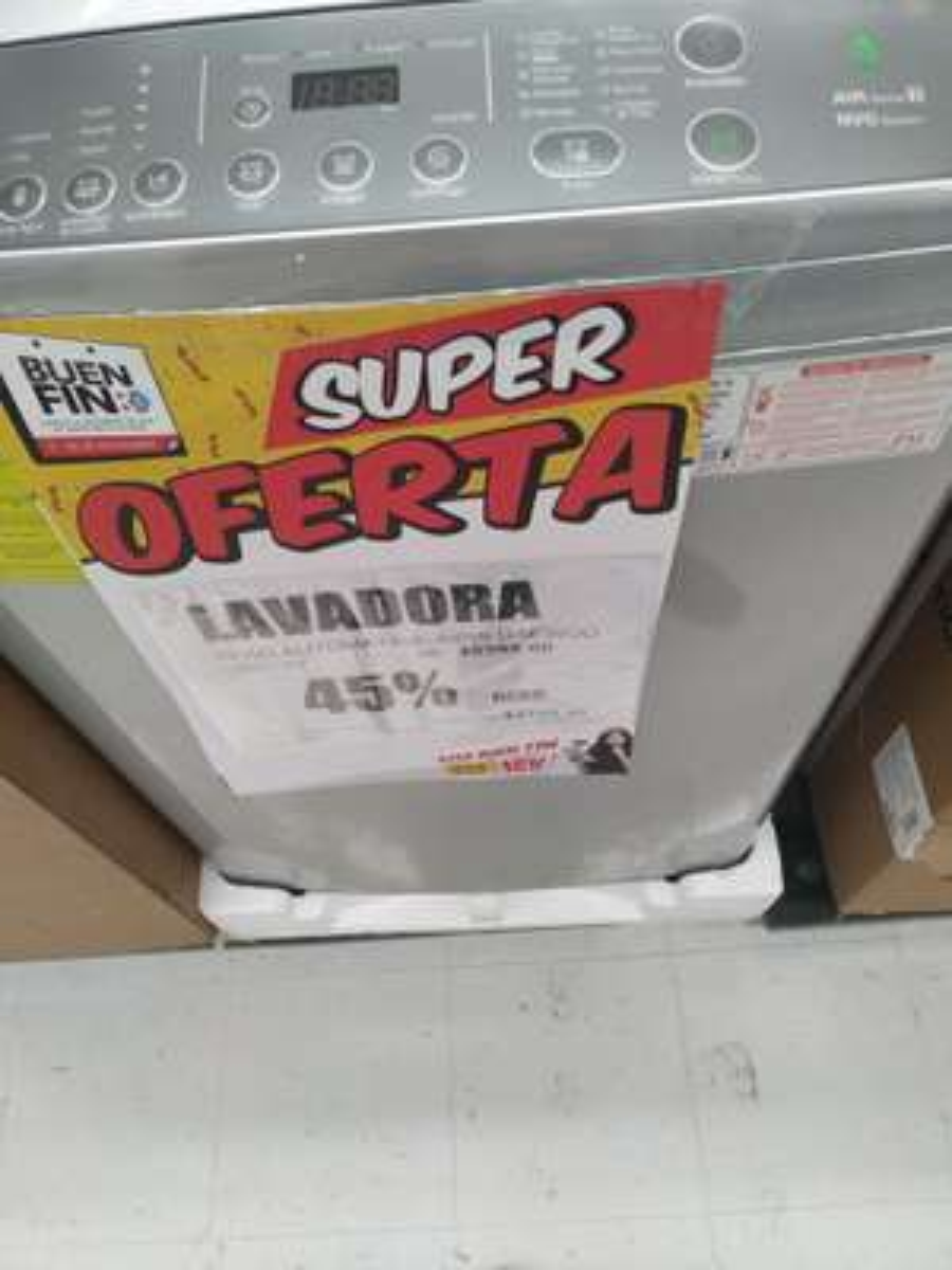 Casa Ley: Lavadora DAEWOO 19 KG Automática