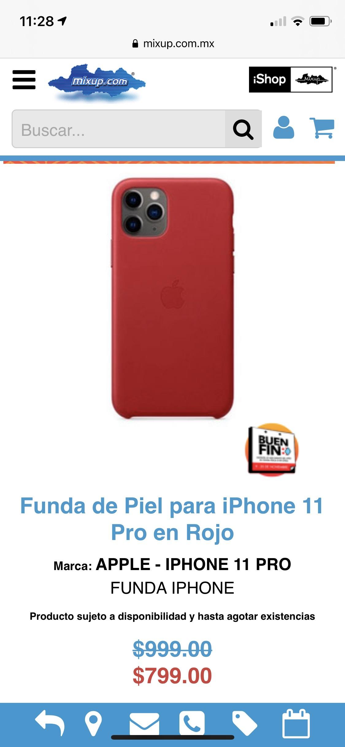 Mixup: Funda piel Apple IPhone 11 Pro