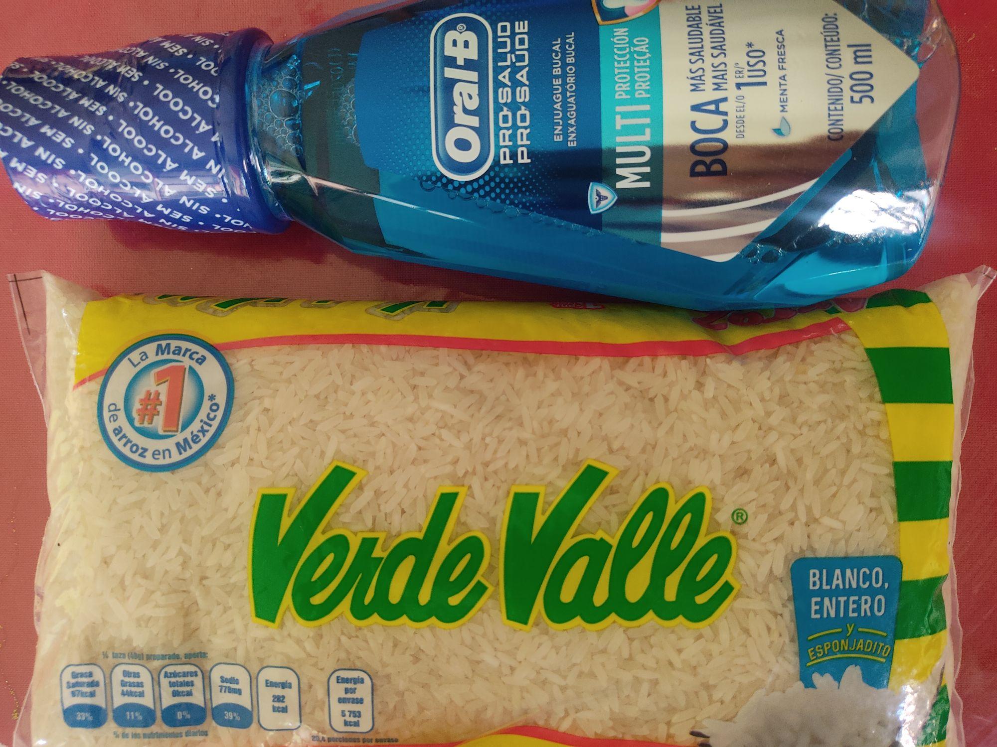Farmacia Guadalajara: 1kg de arroz Verde Valle a $25.5 y Enjuague bucal Oral B 500ml en $49