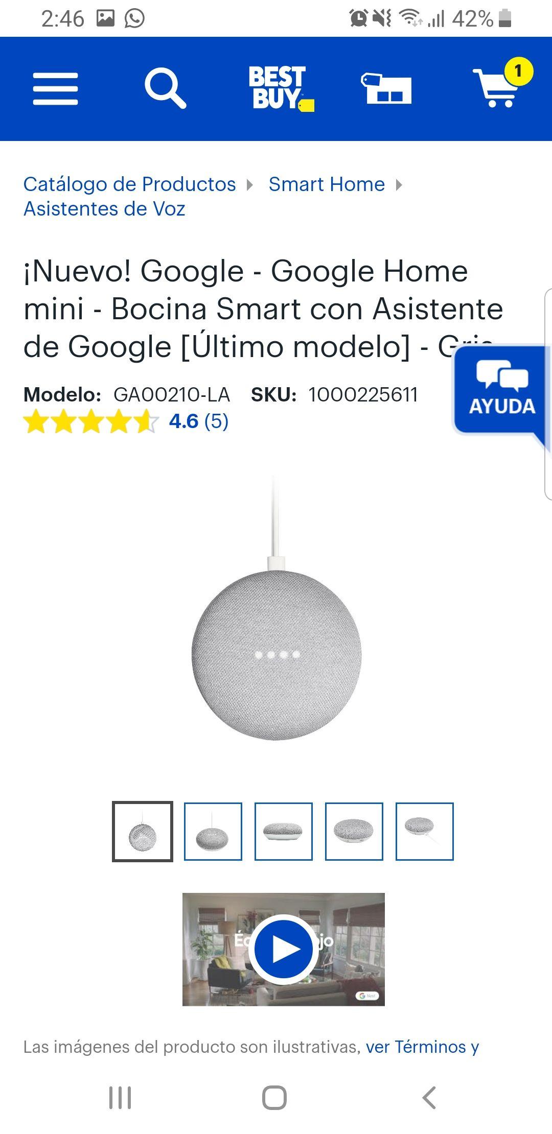 BestBuy: Google Home Mini Gris