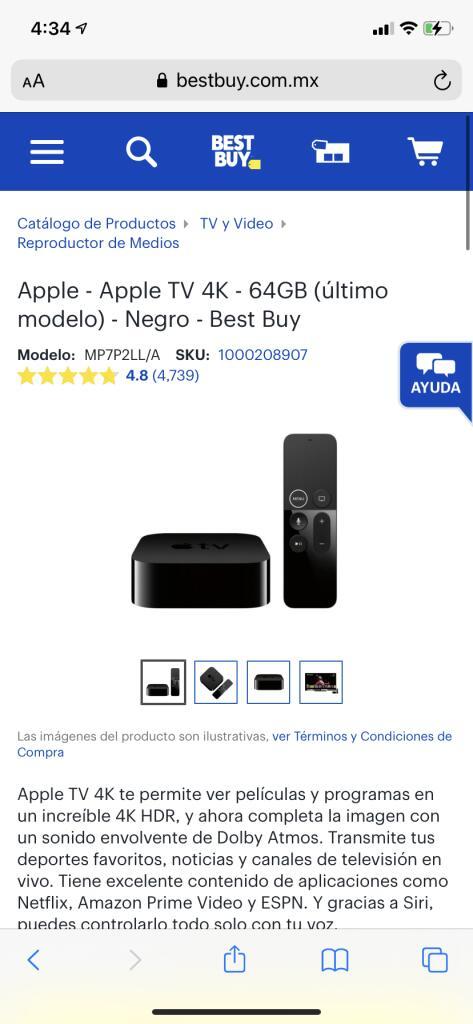 Best Buy: Apple TV 4K 64 G