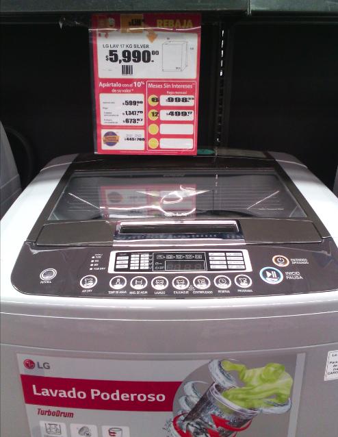 Walmart: Lavadora LG Turbo Drum $5,990