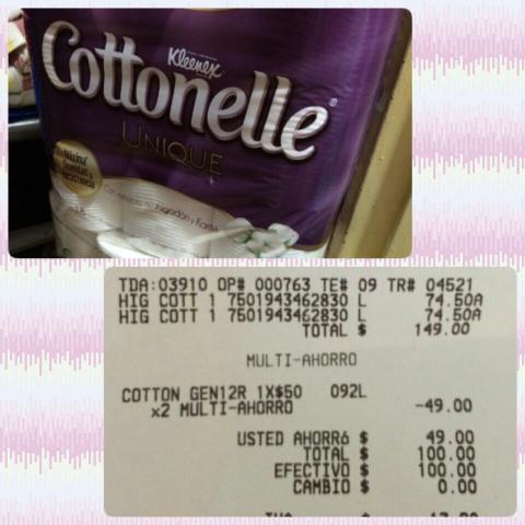 Bodega Aurrerá Palomas cottonelle unique 18 rollos a $50