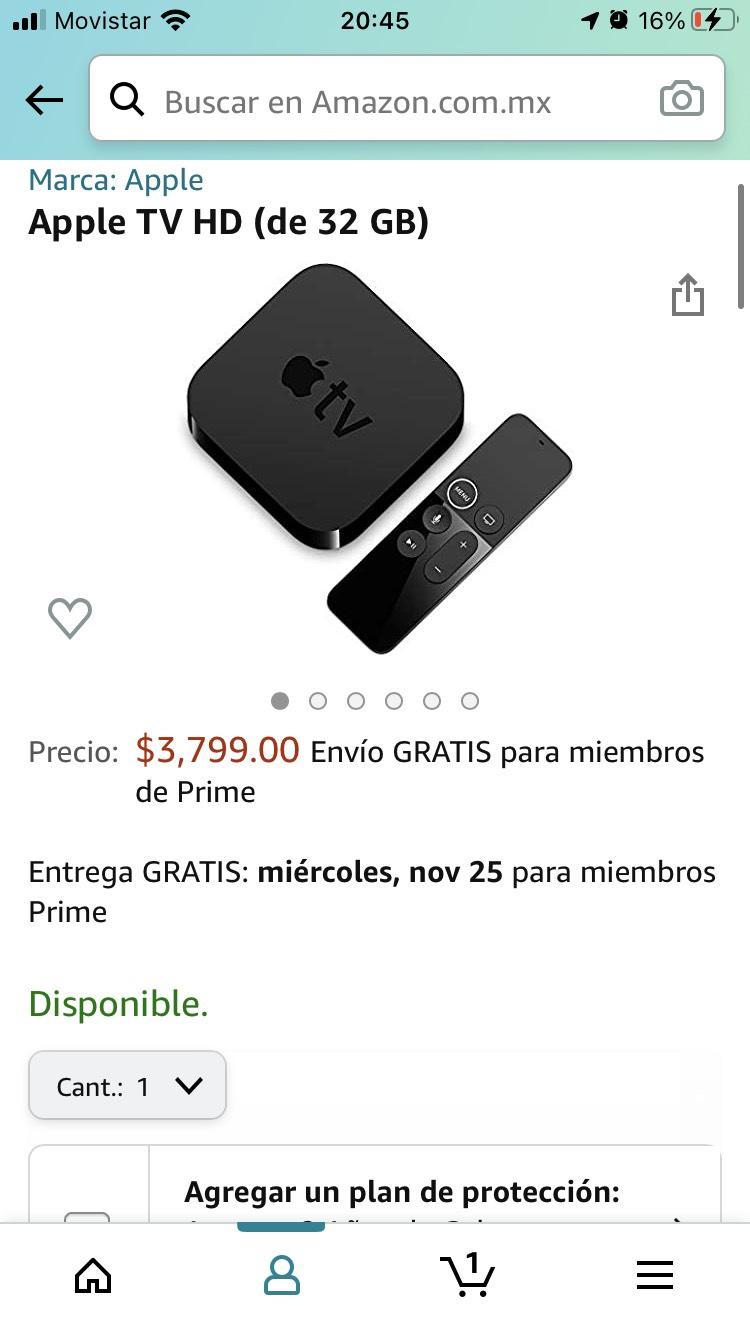 Amazon: Apple tv HD 32 GB