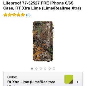 Amazon: Lifeproof para iPhone 6/6S (Lime/Realtree)